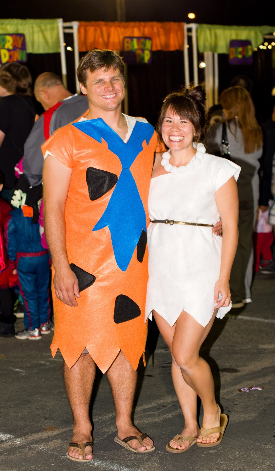 Fred And Wilma Costumes DIY  Domestic Fashionista Fred and Wilma Flintstone Couple s