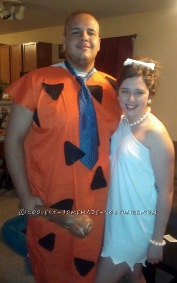 Fred And Wilma Costumes DIY  Coolest Wilma and Fred Flintstone Couple Costume