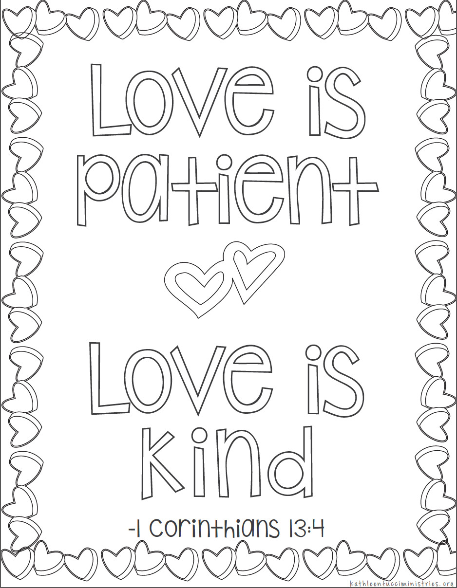 Free Bible Verse Coloring Pages  Bible Verses