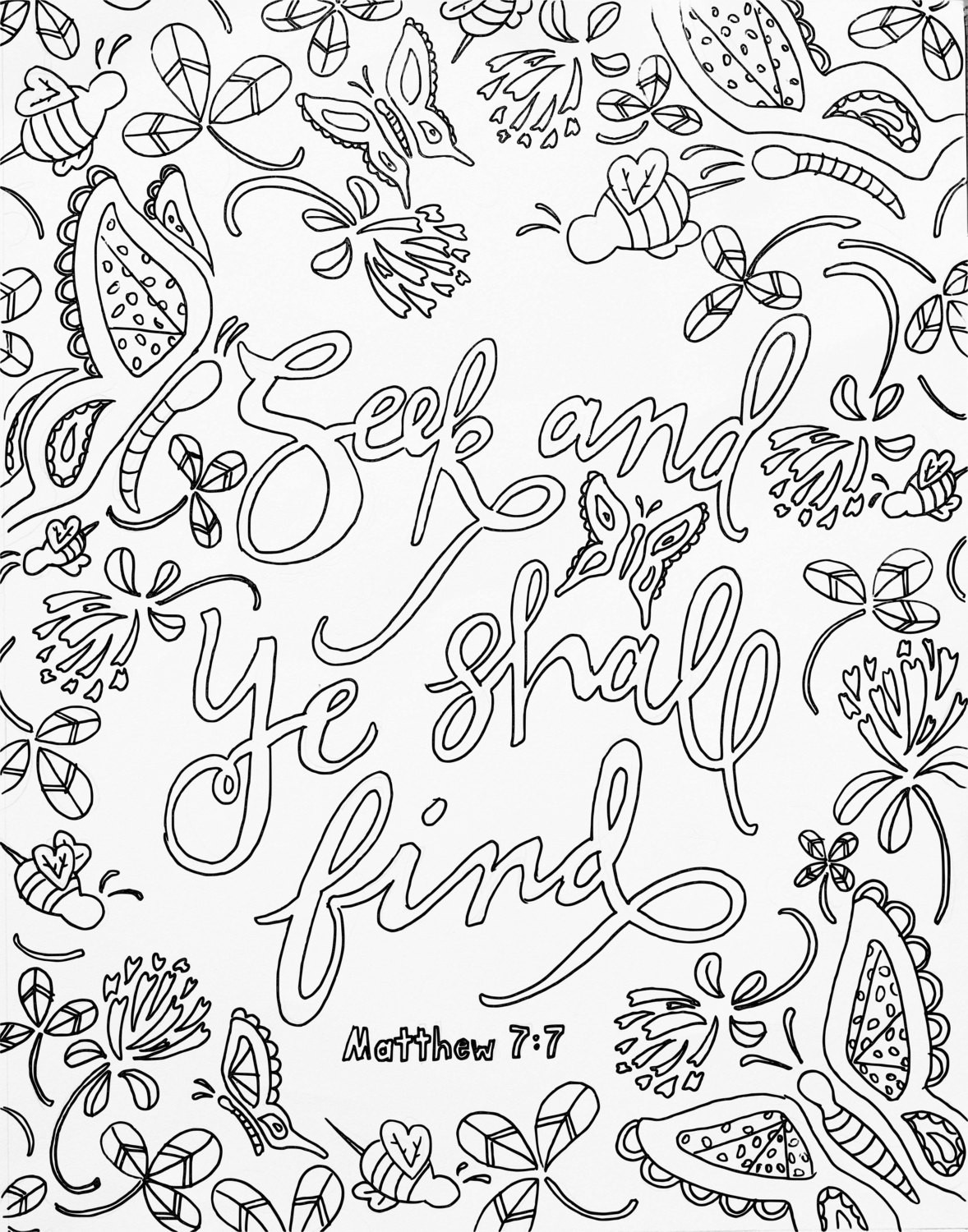 Free Bible Verse Coloring Pages  Free Scripture Coloring Pages Download