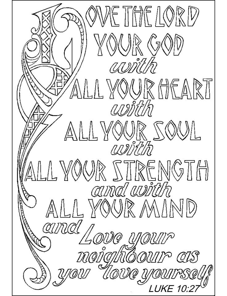 Free Bible Verse Coloring Pages  Free Bible Verse Coloring Pages For Kids The Color Panda