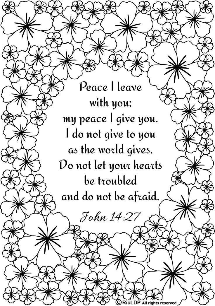 Free Bible Verse Coloring Pages  Christian Coloring Sheets Printables coloring pages