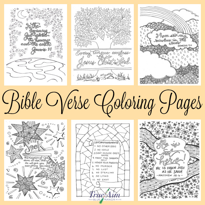 Free Bible Verse Coloring Pages  6 Bible Verse Coloring Pages