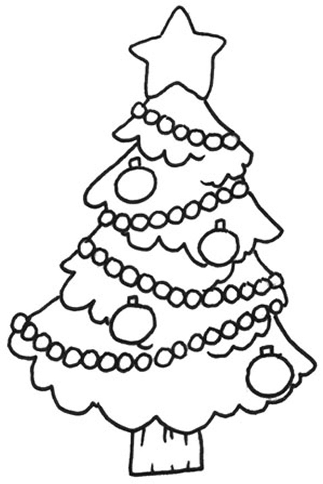 Free Christmas Coloring Pages For Kids  Free Printable Christmas Tree Coloring Pages For Kids
