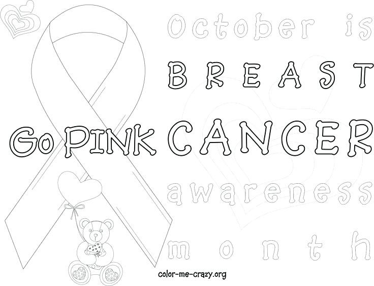 Free Coloring Pages Breast Cancer Awareness  Printable Breast Cancer Ribbon Coloring Pages