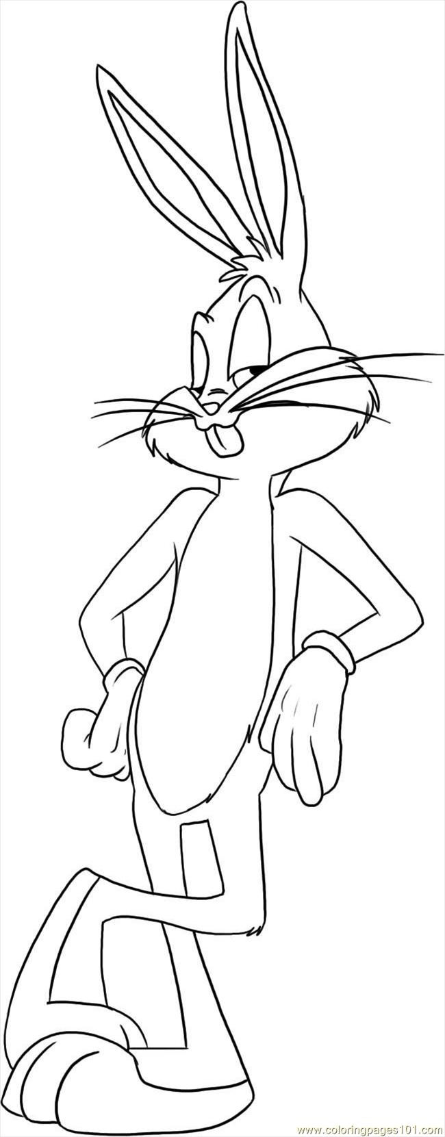 Free Coloring Pages Bugs Bunny  bugs bunny printable coloring pages