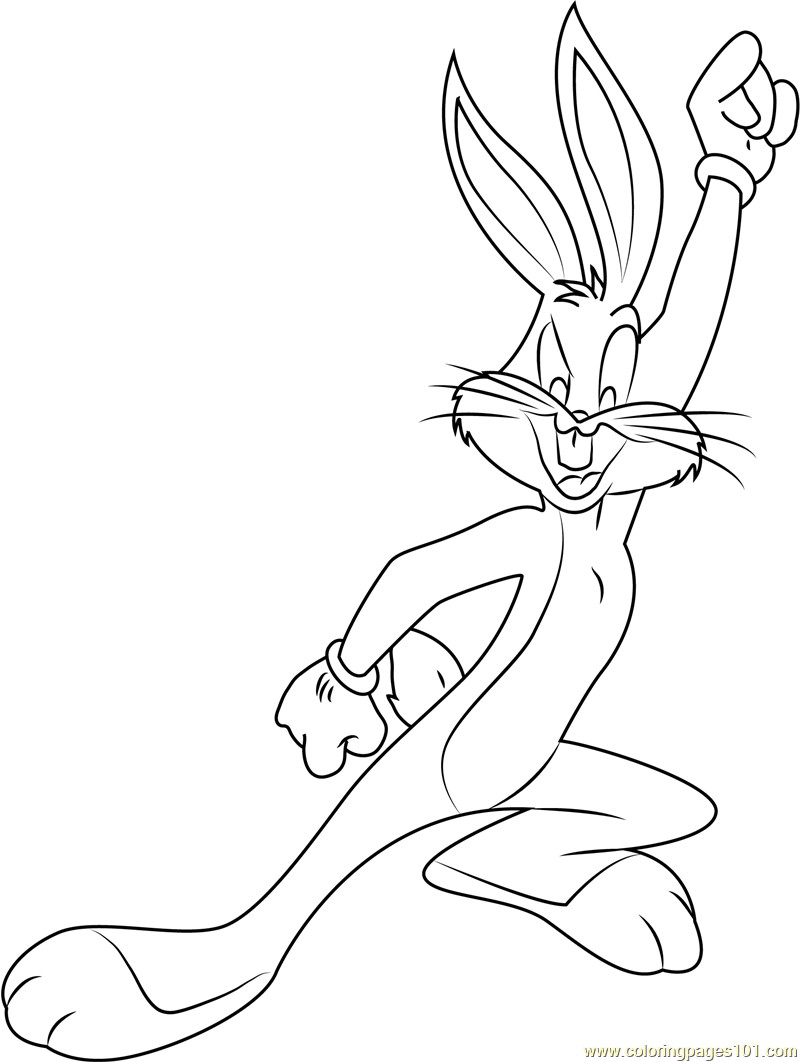 Free Coloring Pages Bugs Bunny  Bugs Bunny Coloring Pages coloringsuite