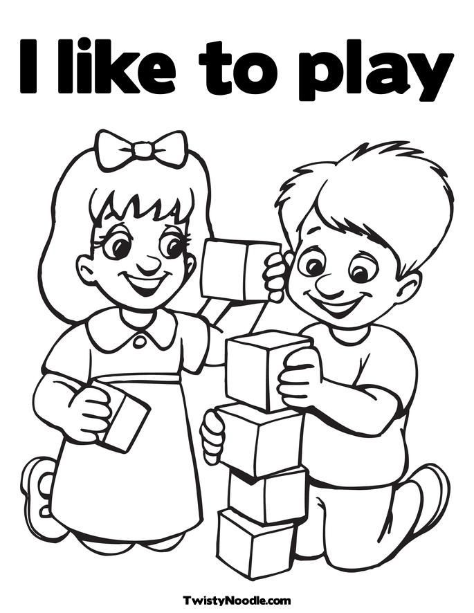 Free Coloring Pages Children Playing  Coloring Pages Kids Playing Coloring Home