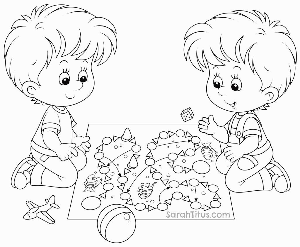 Free Coloring Pages Children Playing  Coloring Pages Children Playing Coloring Home