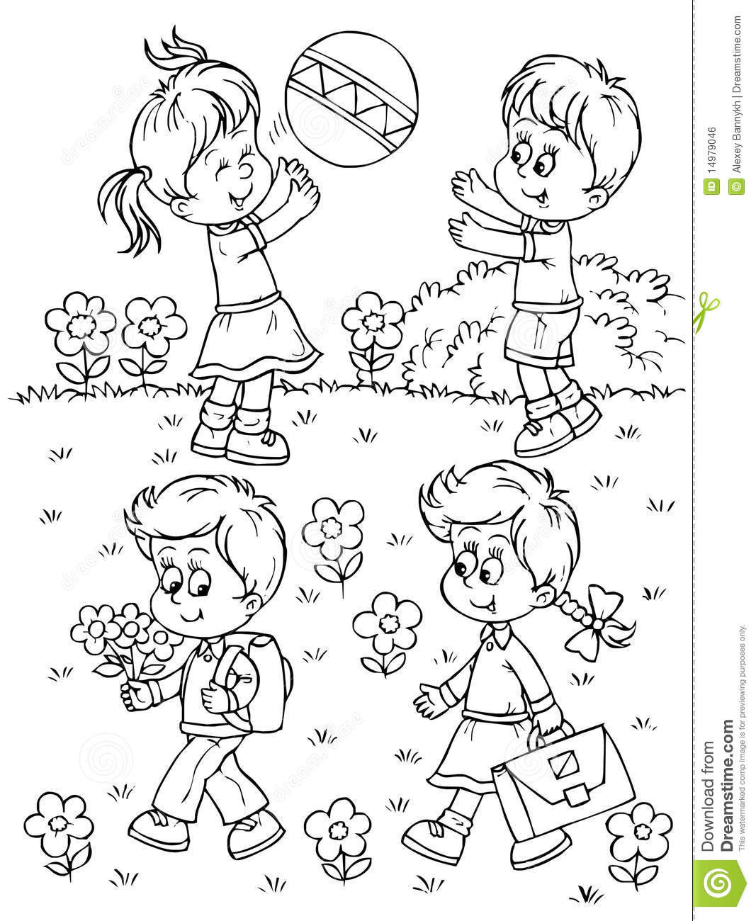 Free Coloring Pages Children Playing  Children Playing Outside Coloring Pages – Color Bros