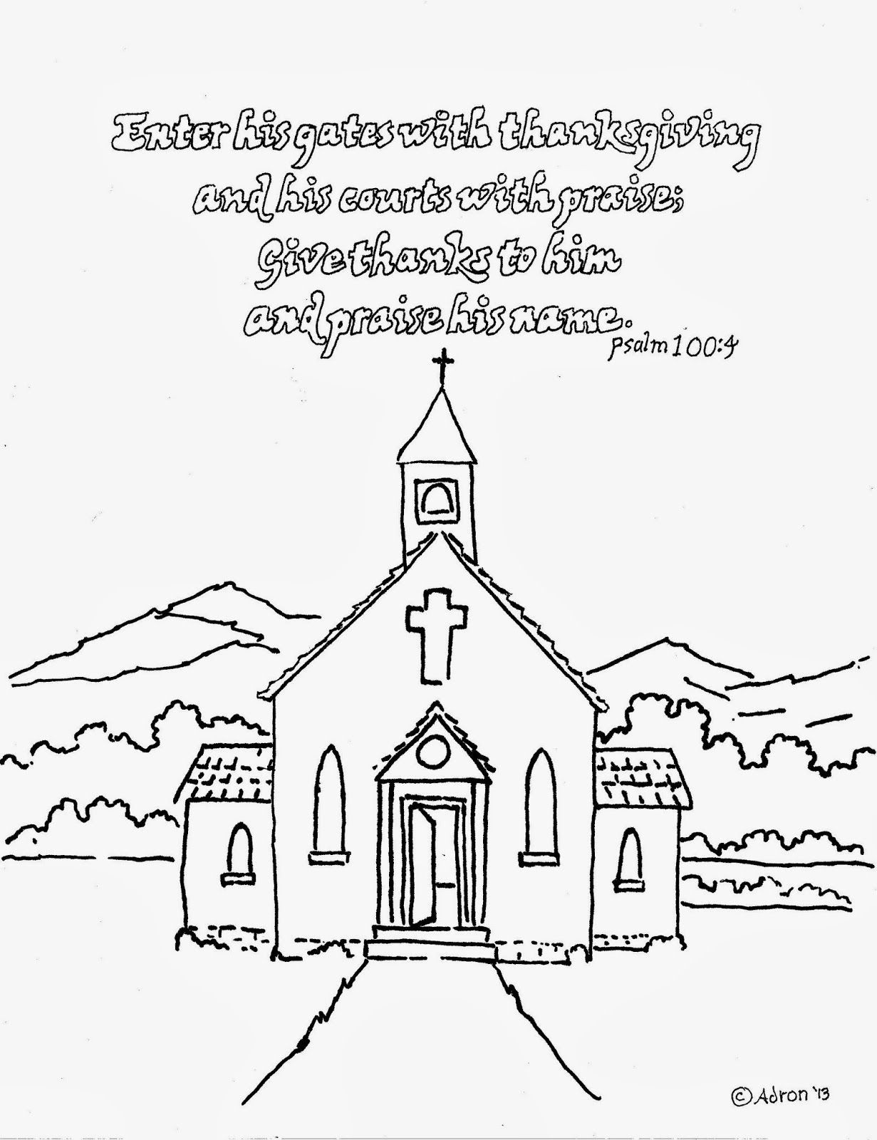 Free Coloring Pages Church  Coloring Pages A Church AZ Coloring Pages