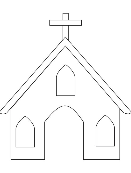 Free Coloring Pages Church  Church coloring page