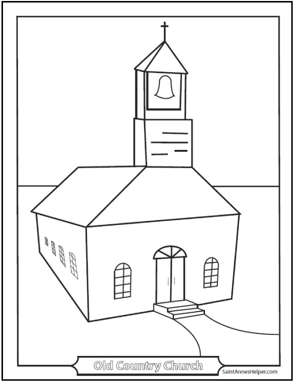 Free Coloring Pages Church  9 Church Coloring Pages From Simple To Ornate