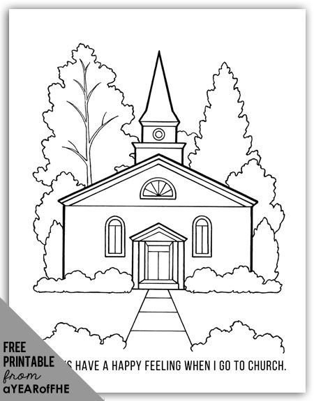 Free Coloring Pages Church  Year 01 Lesson 43 Going to Church
