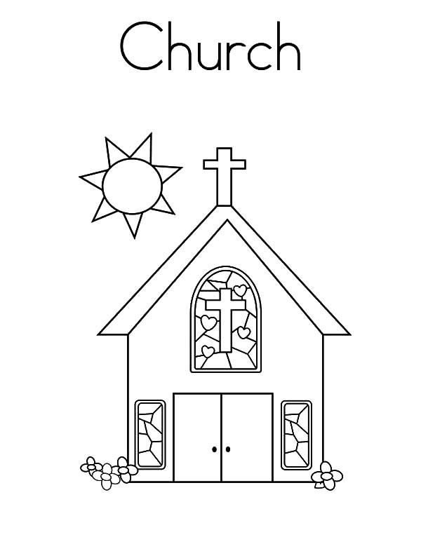 Free Coloring Pages Church  Churches Free Colouring Pages