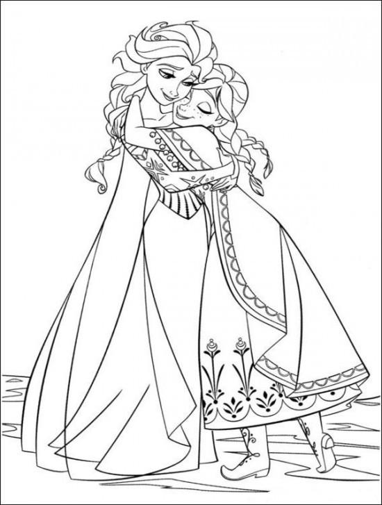 Free Coloring Pages Disney Frozen  Coloring Page World Frozen Portrait