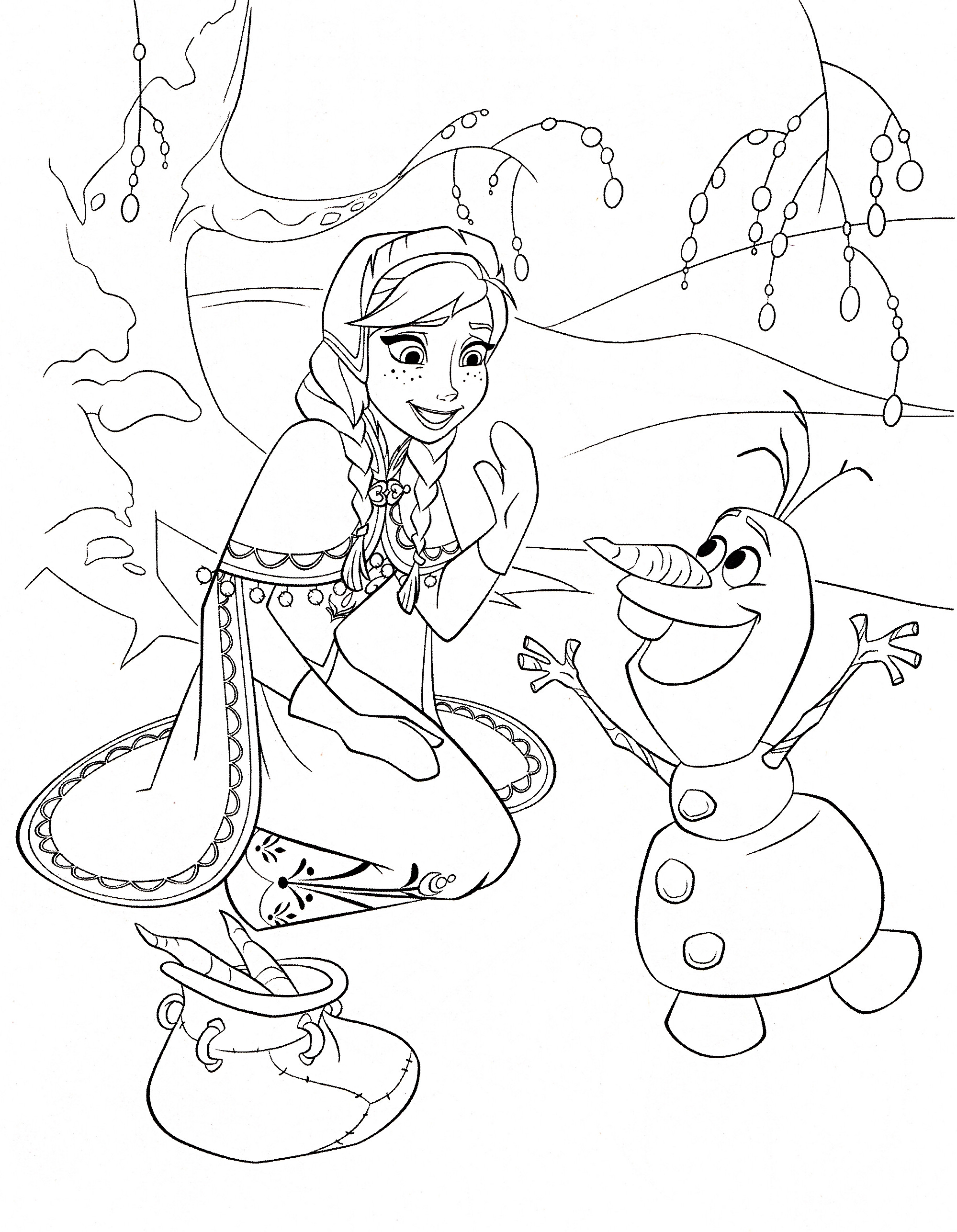 Free Coloring Pages Disney Frozen  FREE Frozen Printable Coloring & Activity Pages Plus FREE