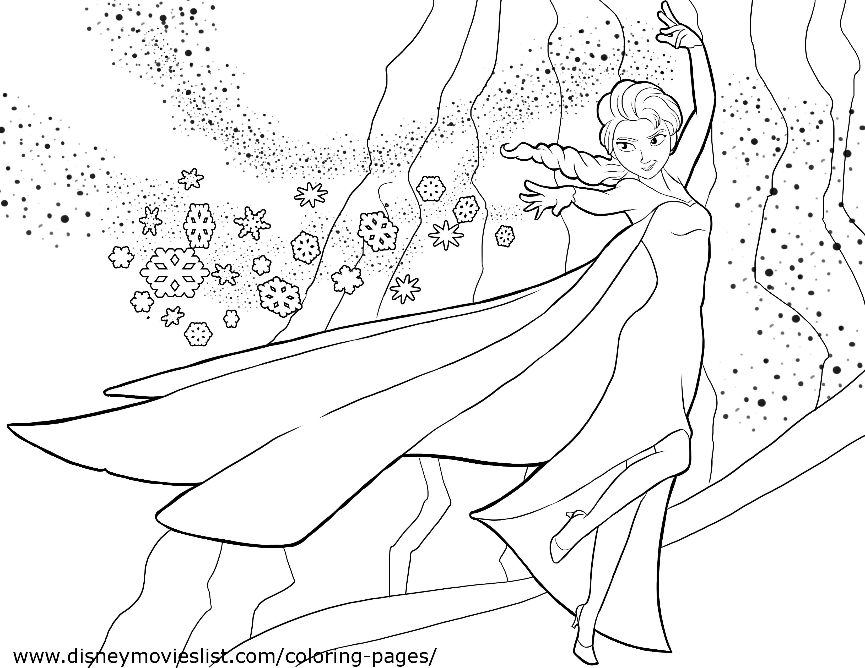 Free Coloring Pages Disney Frozen  disney frozen coloring pages Free