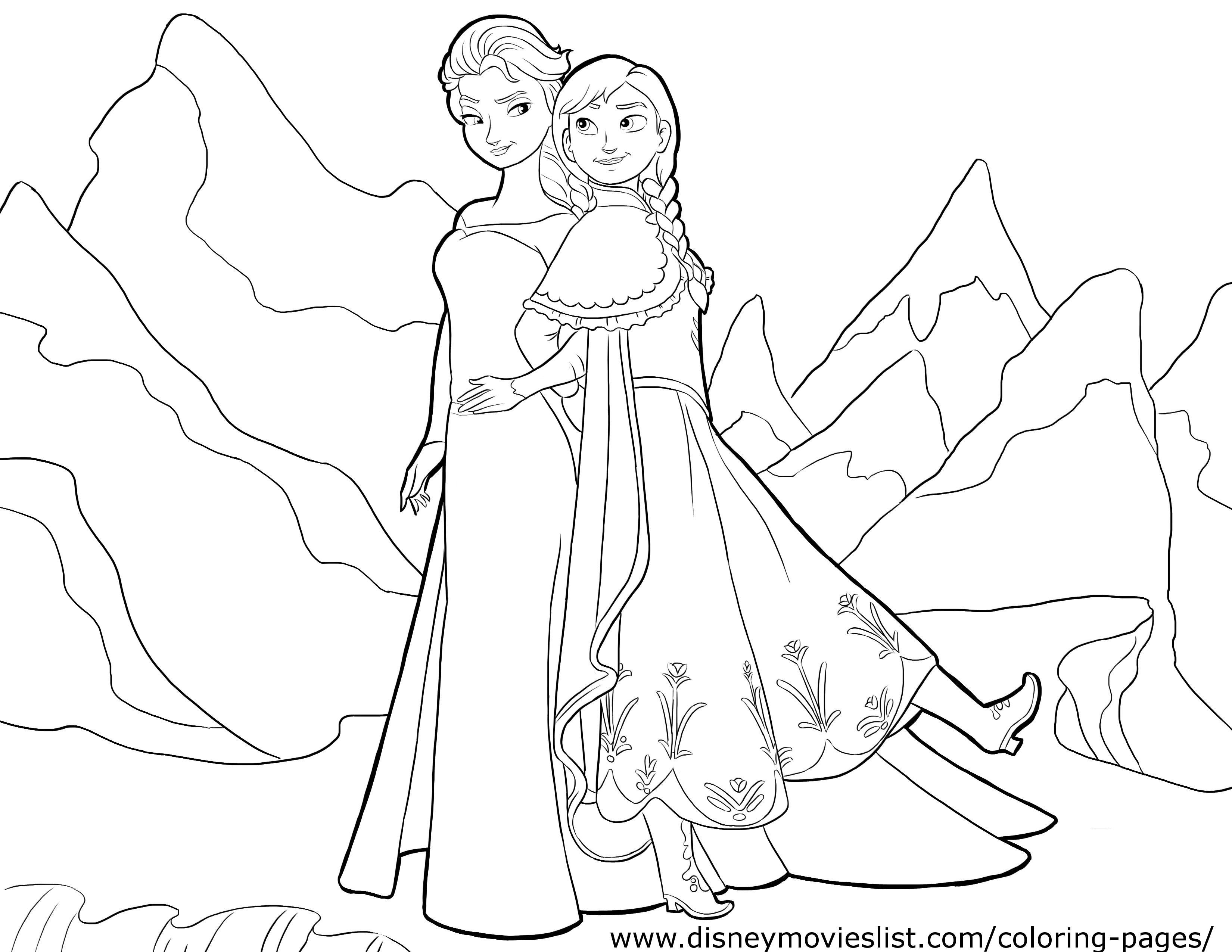 Free Coloring Pages Disney Frozen  Disney Frozen Coloring Pages Tsum Coloring Pages