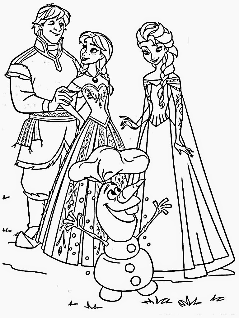 Free Coloring Pages Disney Frozen  Free Printable Frozen Coloring Pages for Kids Best