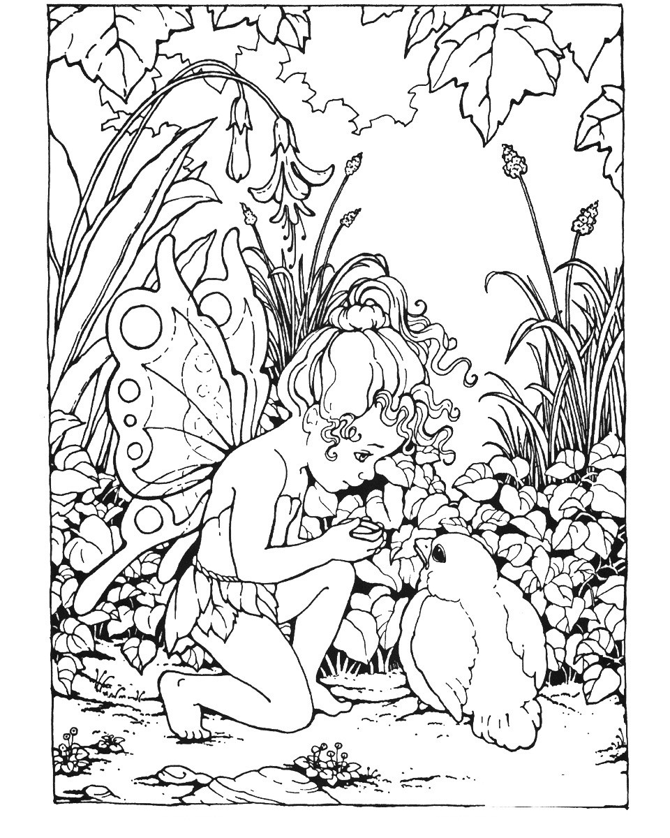 Free Coloring Pages For Adults  Free Printable Fairy Coloring Pages For Kids