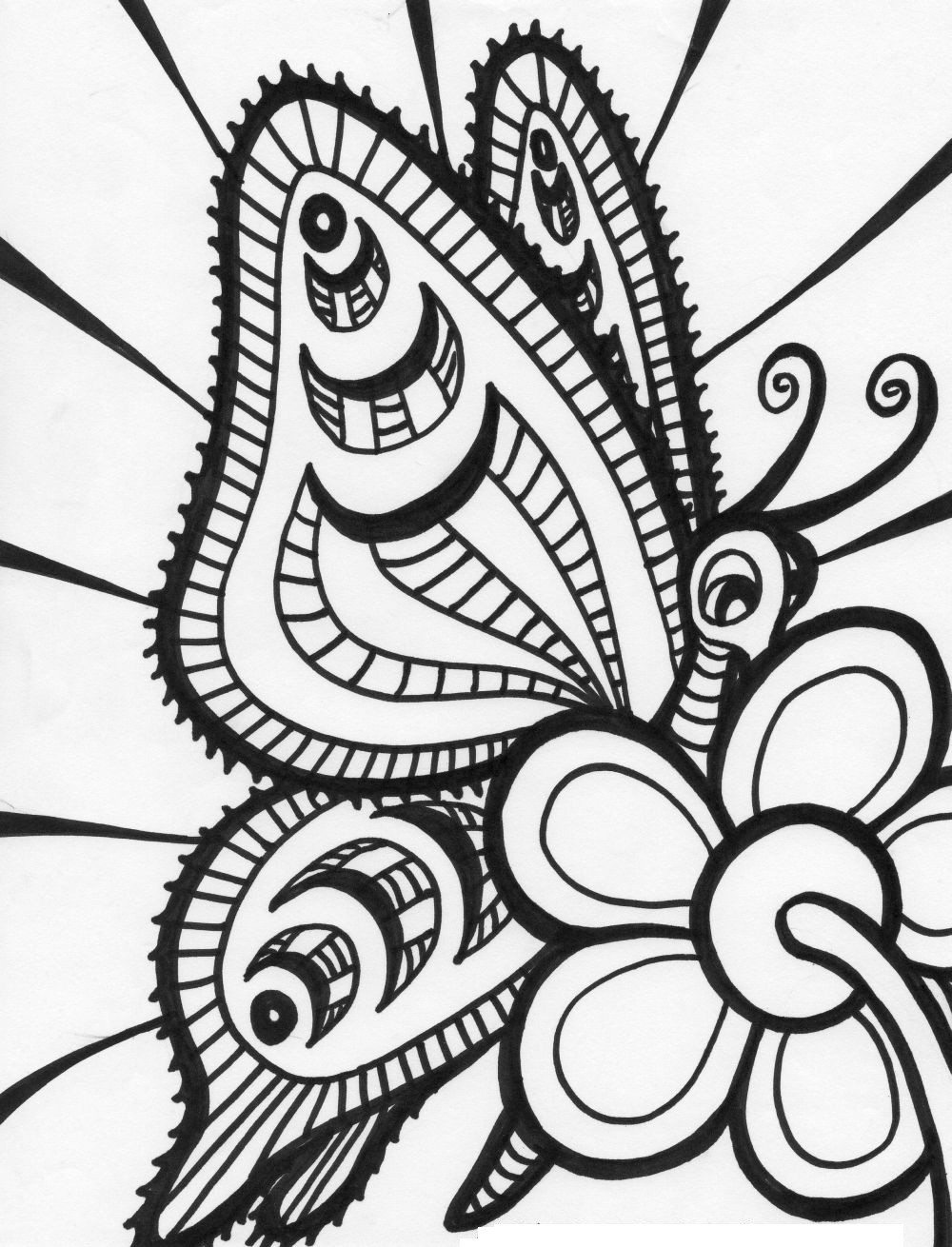 Free Coloring Pages For Adults  Free Printable Butterfly Coloring Pages For Kids