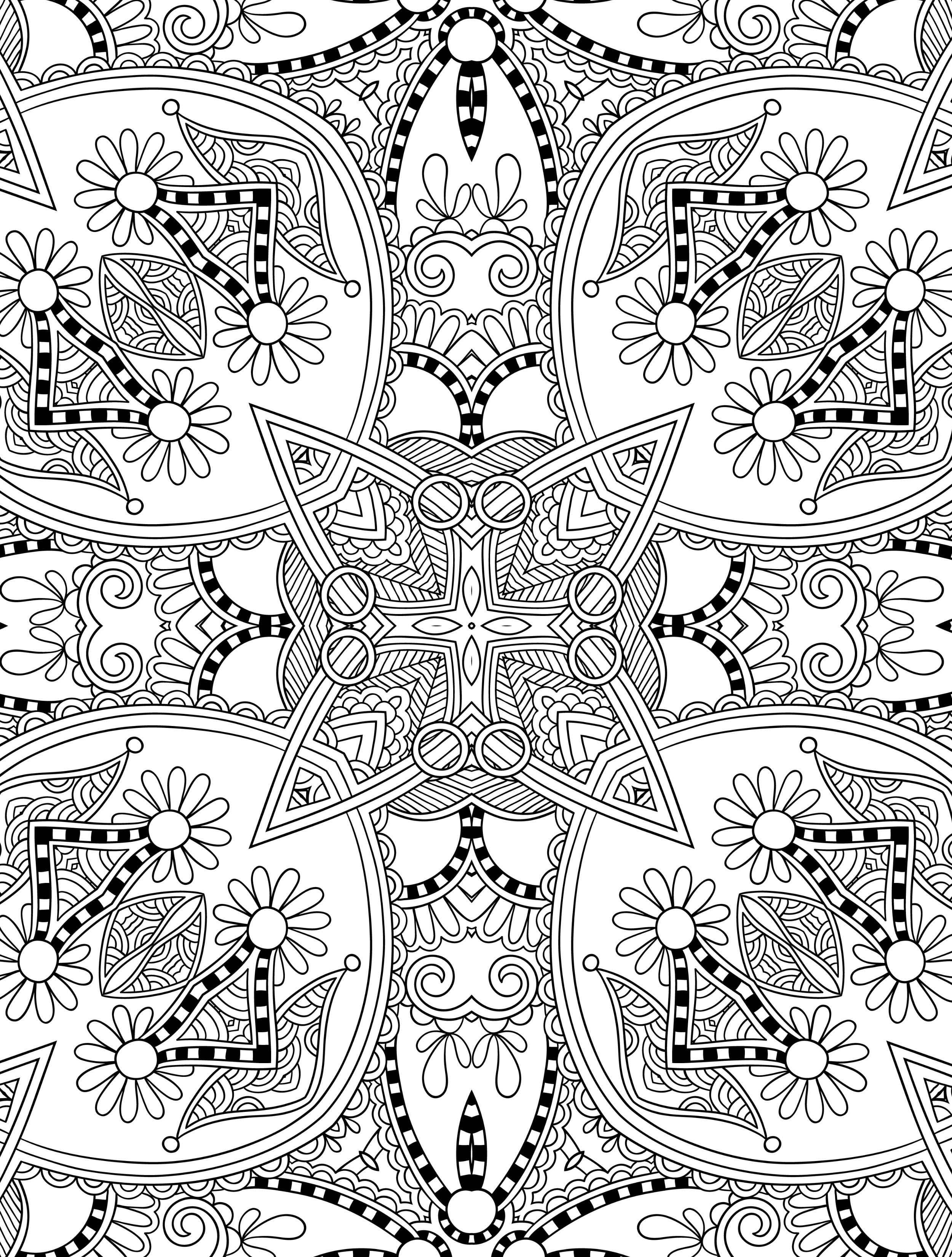 Free Coloring Pages For Adults Printable  10 Free Printable Holiday Adult Coloring Pages
