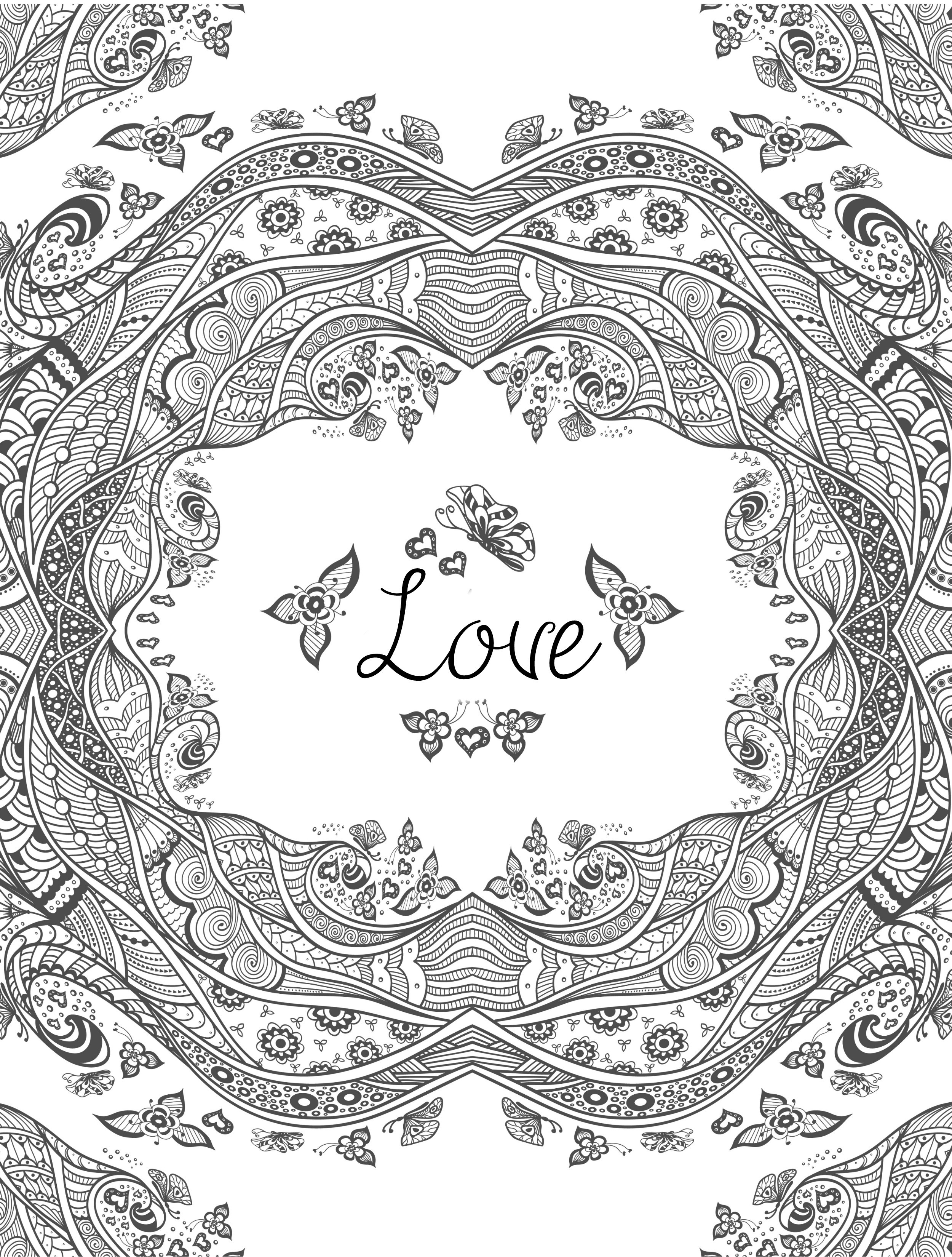 Free Coloring Pages For Adults Printable  20 Free Printable Valentines Adult Coloring Pages Nerdy