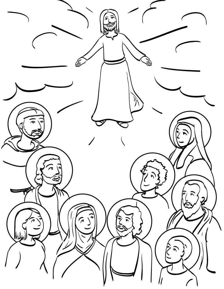 Free Coloring Pages For All Saints Day  All Saints Day Coloring Pages AZ Coloring Pages