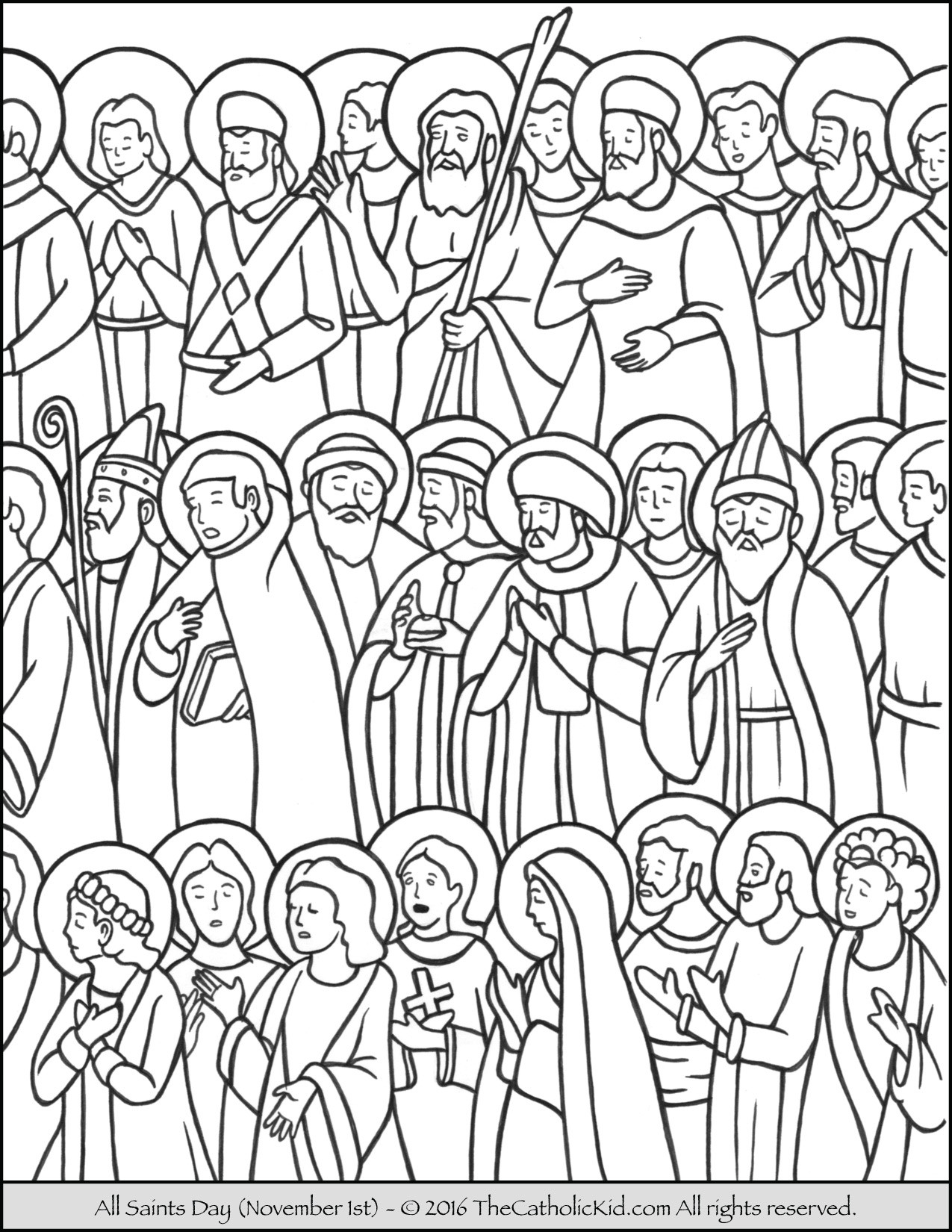 Free Coloring Pages For All Saints Day  All Saints Day Coloring Page The Catholic Kid Catholic