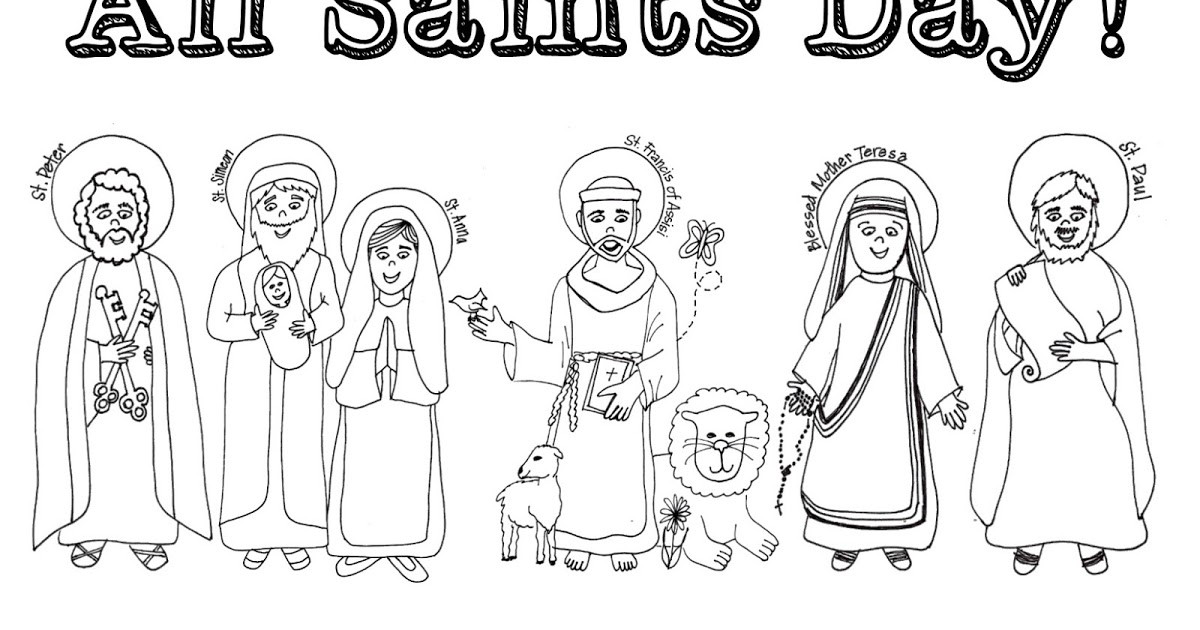 Free Coloring Pages For All Saints Day  Look to Him and be Radiant 12 Ideas for Celebrating All