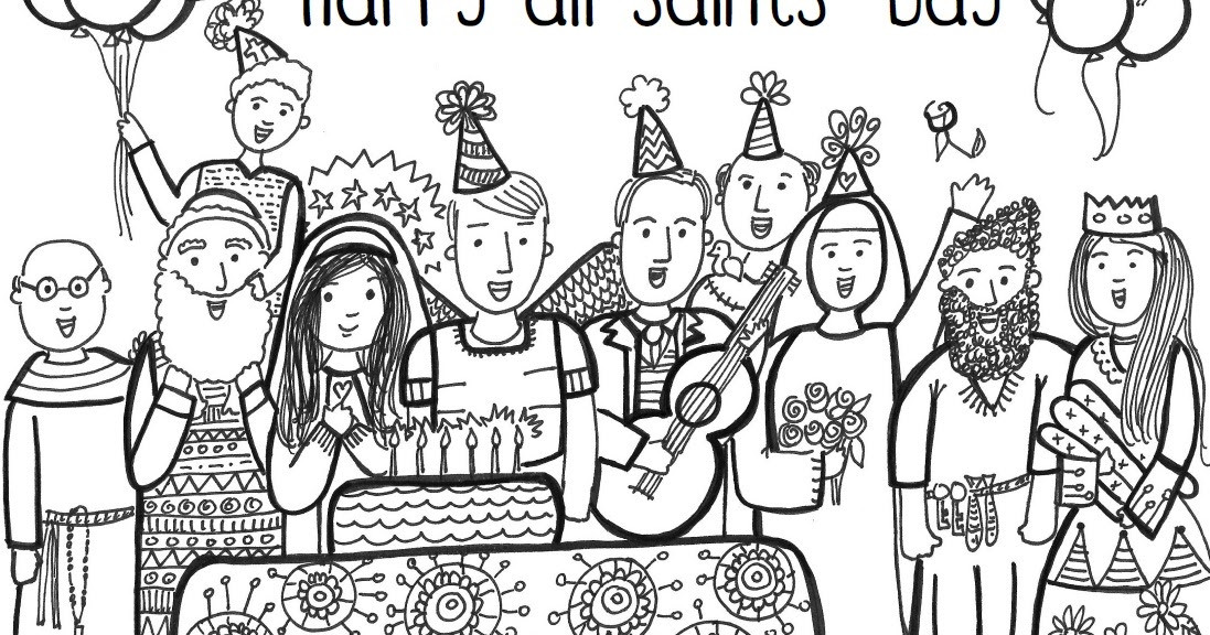 Free Coloring Pages For All Saints Day  Paper Dali Free All Saints Day Coloring Page