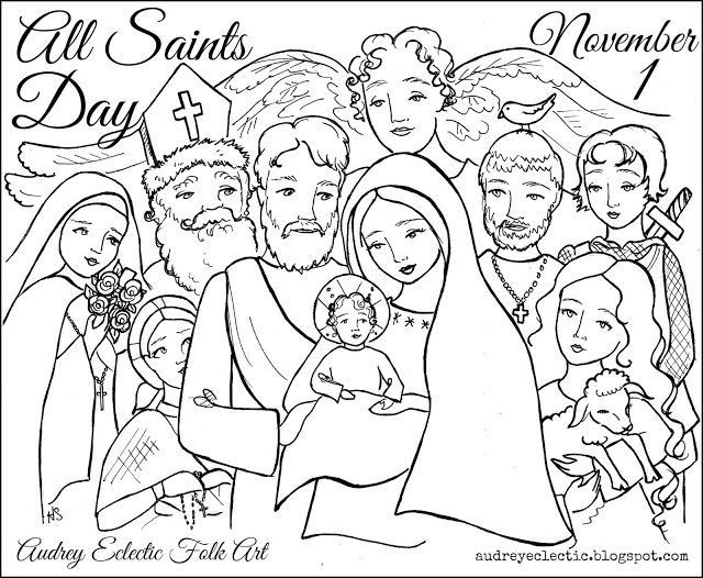 Free Coloring Pages For All Saints Day  All Saints Day Coloring Pages Coloring Home
