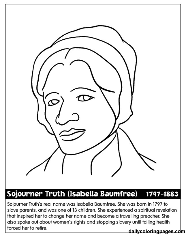 Best ideas about Free Coloring Pages For Black History . Save or Pin Black History People Coloring Pages Coloring Home Now.