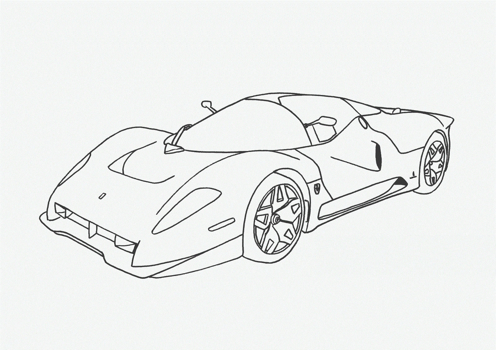 Free Coloring Pages For Boys Cars  Car Coloring Pages Free Download