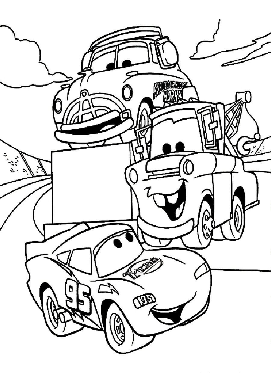 Free Coloring Pages For Boys Cars  disney cars coloring pages Free