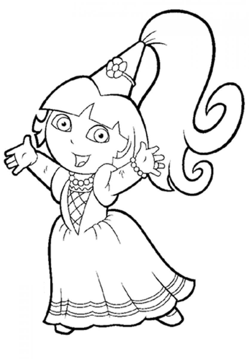 Free Coloring Pages For Girls Dora  dora coloring pages