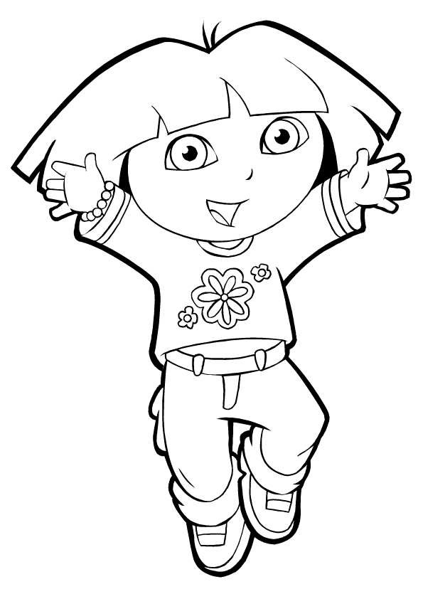 Free Coloring Pages For Girls Dora  Dora Coloring Pages Sheets
