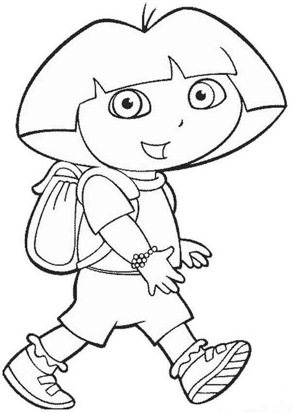 Free Coloring Pages For Girls Dora  Free Printable Dora The Explorer Coloring Pages For Kids