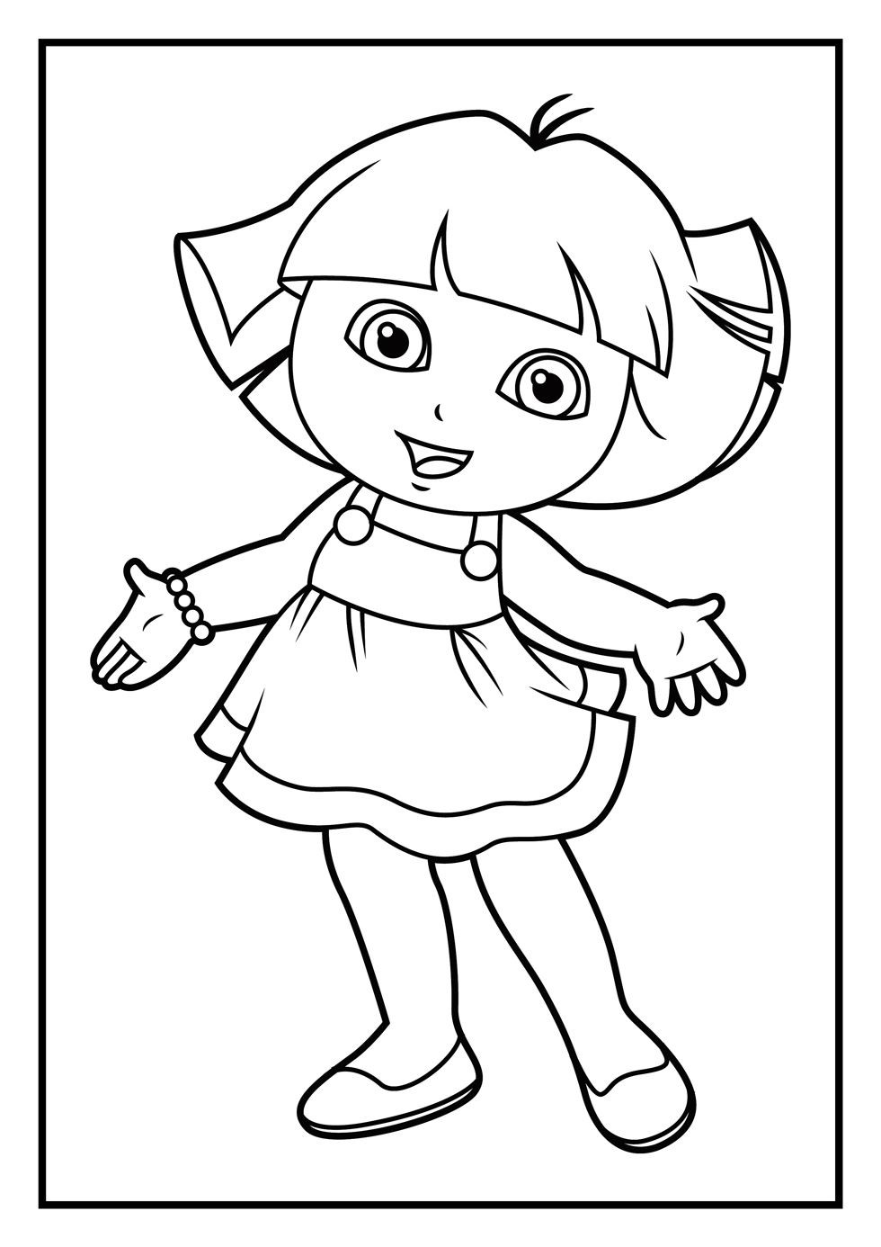 Free Coloring Pages For Girls Dora  dora the explorer coloring pages 06
