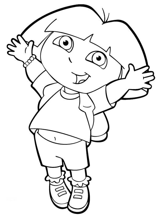 Free Coloring Pages For Girls Dora  Coloring Pages For Girls Dora The Explorer
