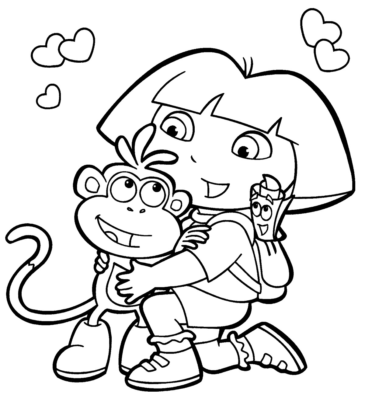 Free Coloring Pages For Girls Dora  Dora the Explorer Coloring Pages 15