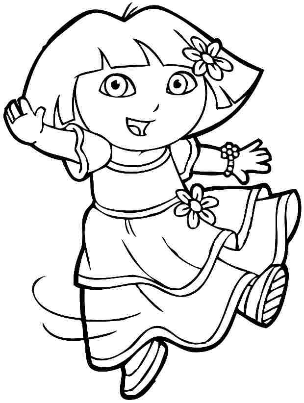 Free Coloring Pages For Girls Dora  Free Angry Elephant Cartoon Download Free Clip Art Free