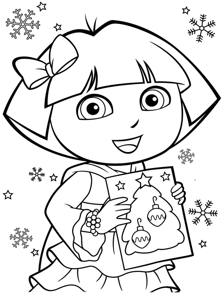 Free Coloring Pages For Girls Dora  Free Printable Dora The Explorer Coloring Pages
