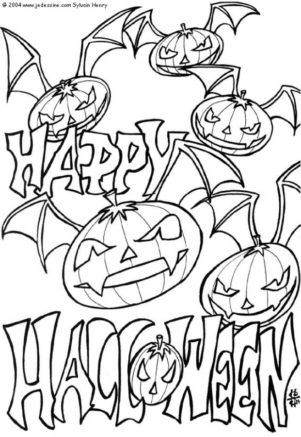Free Coloring Pages For Halloween Printable  Free Printable Halloween Coloring Pages For Kids