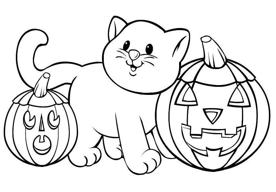 Free Coloring Pages For Halloween Printable  Halloween Coloring Pages Free