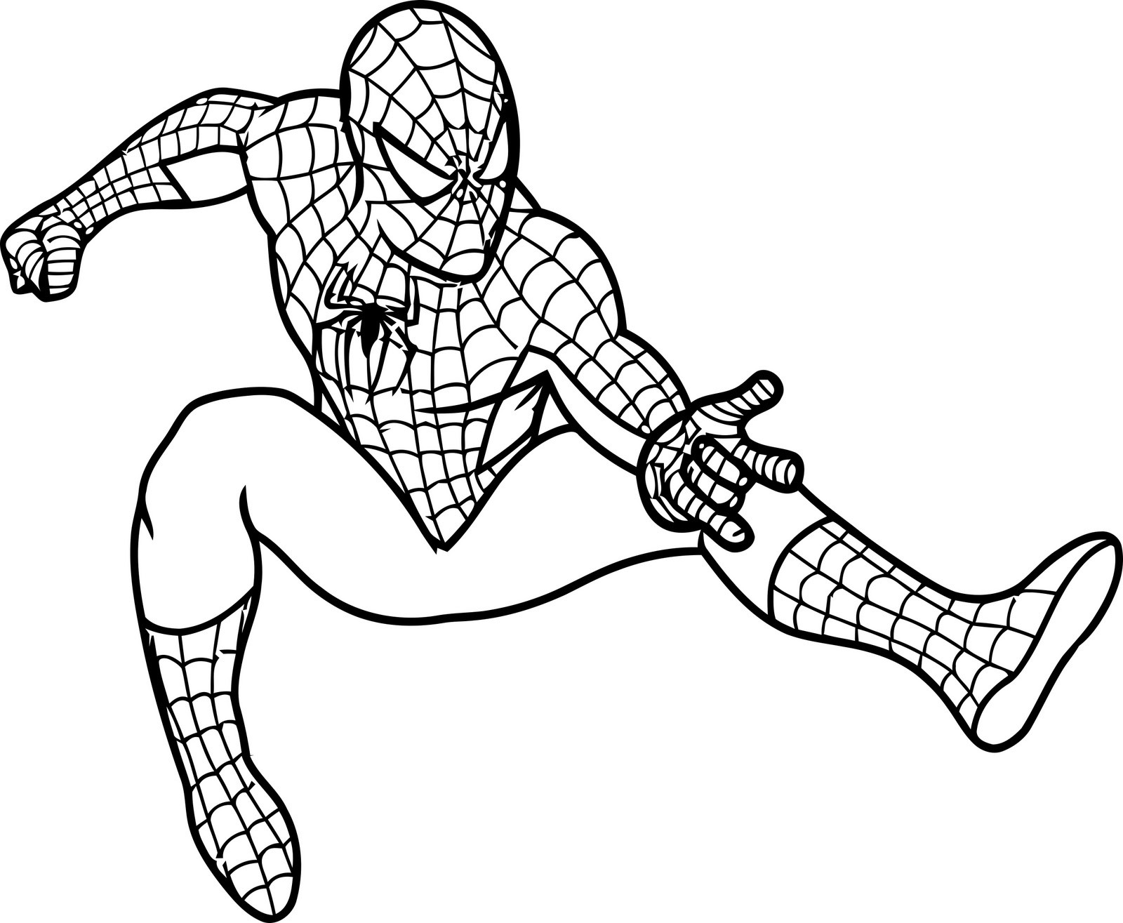 Free Coloring Pages For Kids Spiderman  Free Printable Spiderman Coloring Pages For Kids