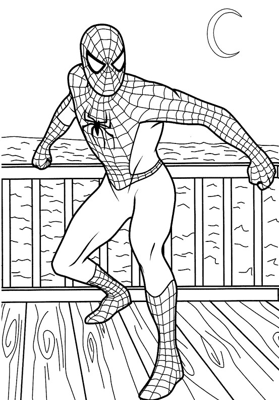 Free Coloring Pages For Kids Spiderman  Spiderman Coloring Pages