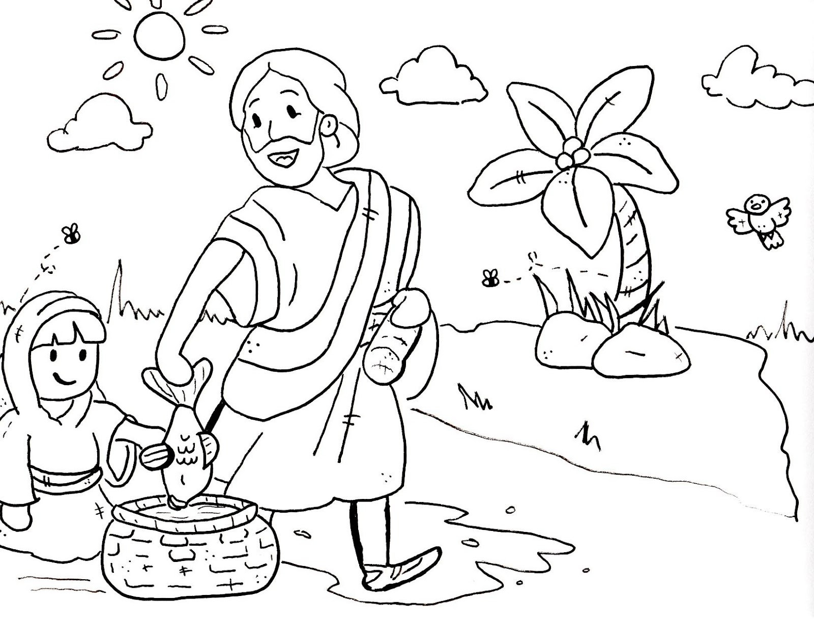 Free Coloring Pages For Sunday School  Sermons For Kids Coloring Pages