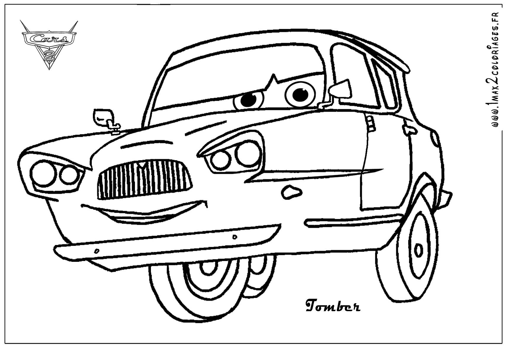 Free Coloring Pages Of Cars 2  Free Printable Color Pages For Adults Cars 2 The Art Jinni